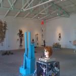 Trashy art show at Bragg's Pie (photo by Si Robins)