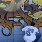 Mural painting (photo by Kate Benjamin)