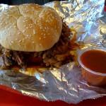 Sips and Grub | Pork Sandwich at Honey Bear's BBQ