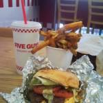 Sips and Grub | Cheeseburger and Cajun Fries at Five Guys Burger and Fries