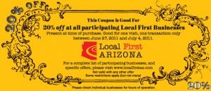 Local First Arizona Golden Coupon