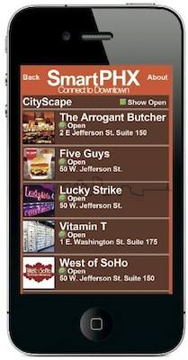 SmartPHX web app