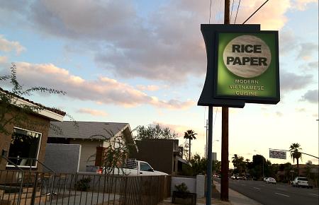 rice paper menu