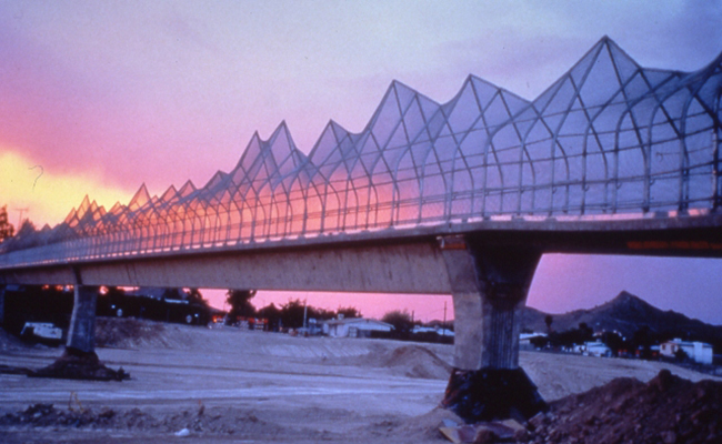 Laurie Lundquist's Mountain Pass Pedestrian Bridge