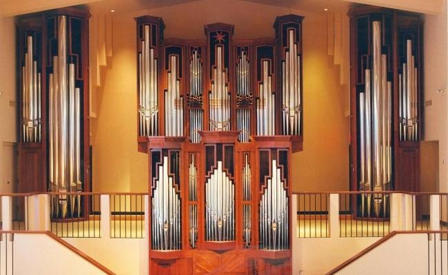 The organ at All Saints' Episcopal Church