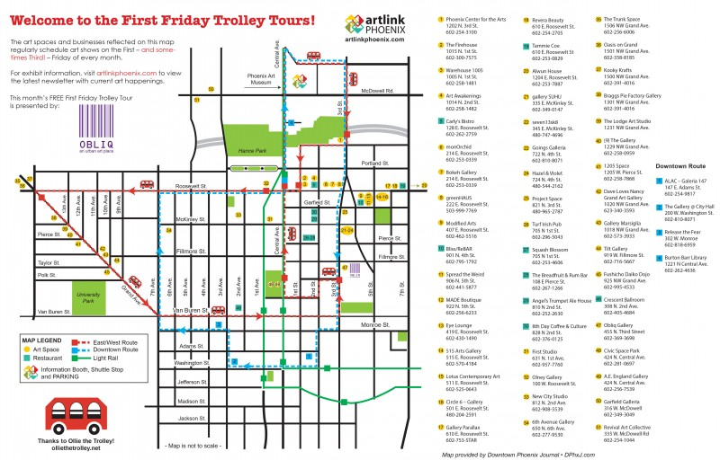 Map  First Friday Art Walk And Expanded Trolley Tour