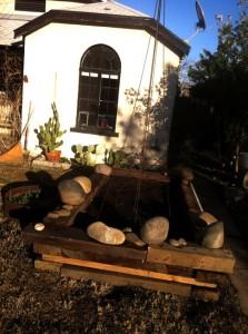 The raised garden bed