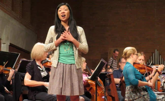 Soprano Joyce Yin with MusicaNova Orchestra (credit: Elizabeth McKinnon)