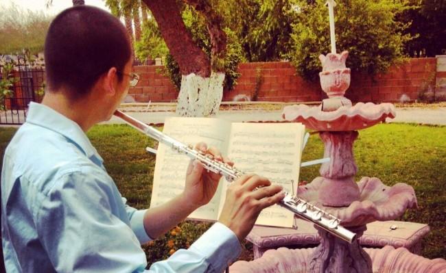 Flutist Chaz Salazar