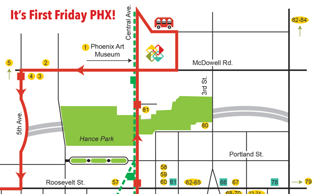 First Friday Ideas And Map For December  Downtown Phoenix