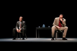 """Christopher Haines (L) and Joseph Kremer in """"A Steady Rain"""""""