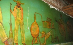 DeGrazia mural inside 222 E. Roosevelt
