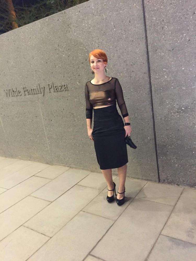 Charis Elliot at The Phoenix Art Museum.