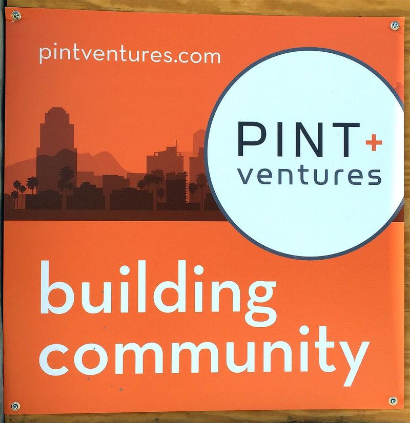 Pint + Ventures sign