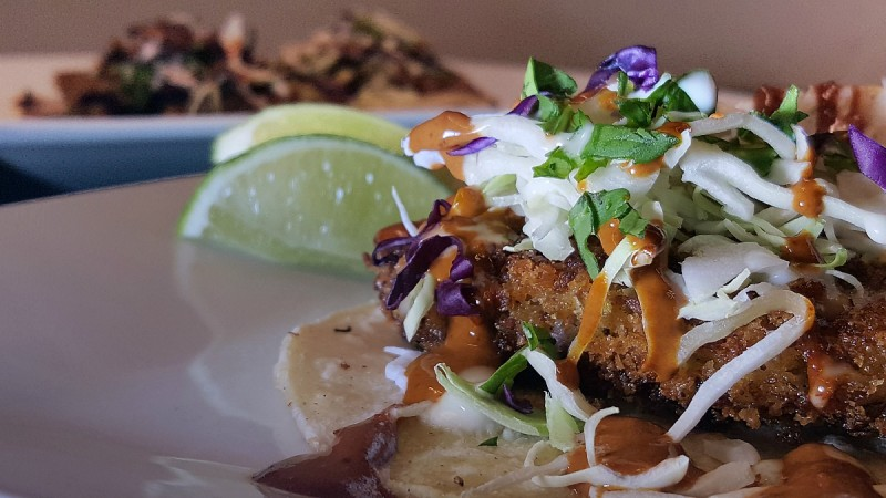 Urban Beans Baja Taco. Photo by Nathaniel Burns.