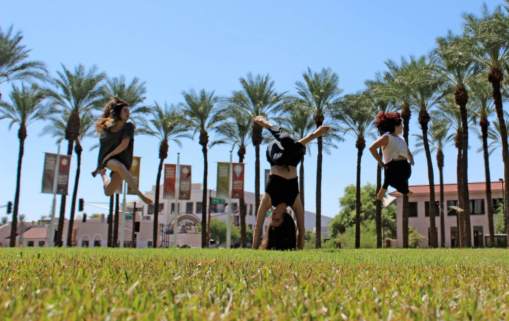 Dancers Olivia Poulter, Nicky Shindler and Johanna Hayes. Photo by Ashley Baker.