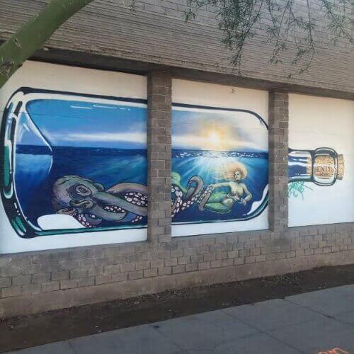 Gentile's 'Mermaid in a Bottle' mural.