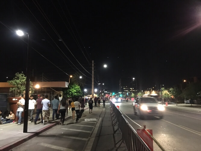 Roosevelt Row during First Friday.