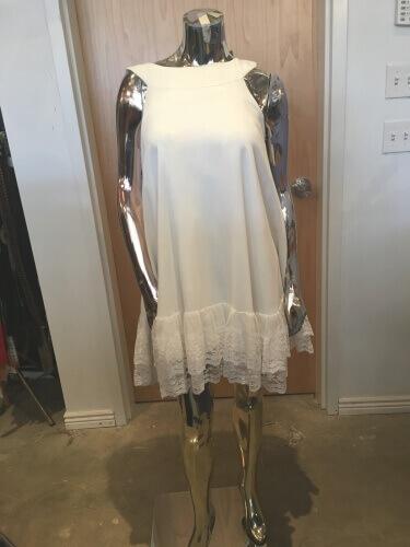 1960's Diamond White Mod Dress