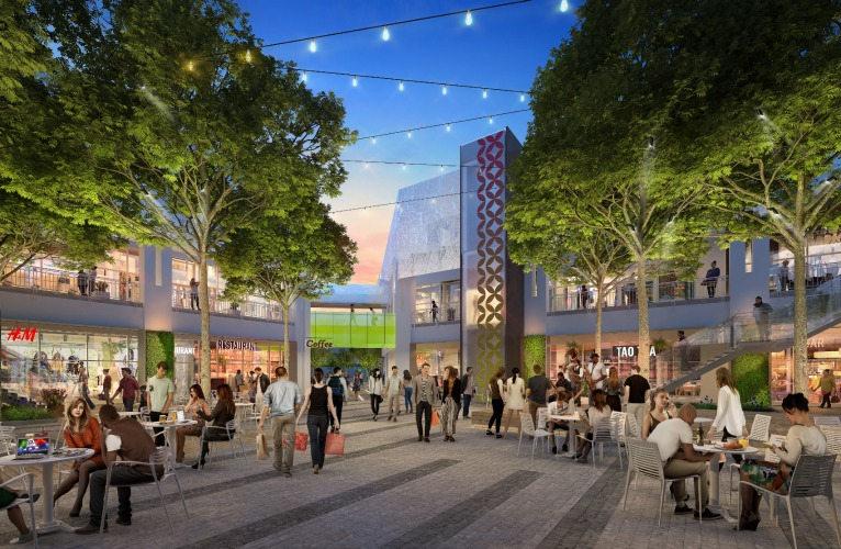 Arizona Center courtyard rendering.