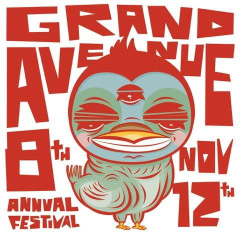 8th Annual Grand Avenue Festival logo by Abraham Reyes Pardo.