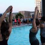 Take Your Summer Yoga Poolside at LUSTRE