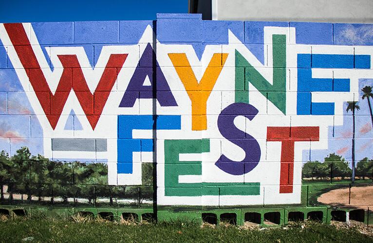 Waynefest mural by Maggie Keane